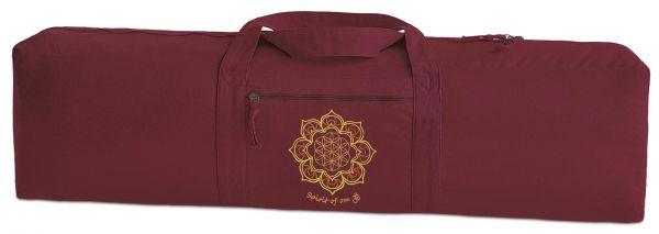 Spirit of OM Tragetasche für Yogamatte aus 100% Baumwolle 100x28cm