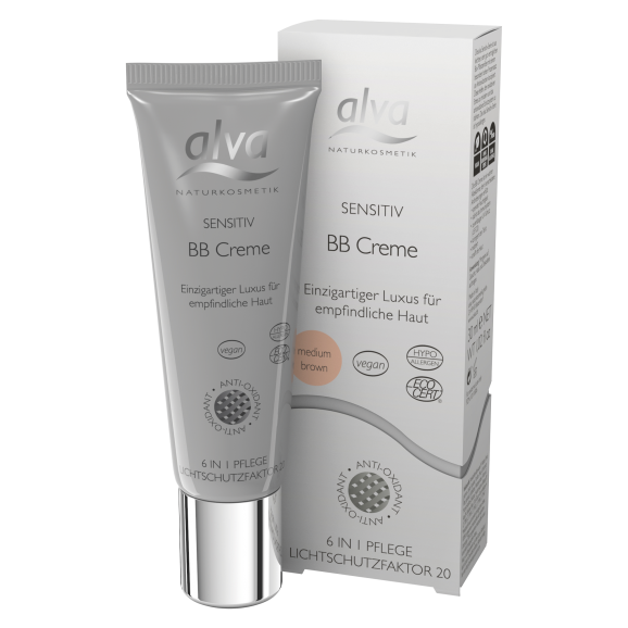 alva SENSITIV BB Cream medium brown, 30ml