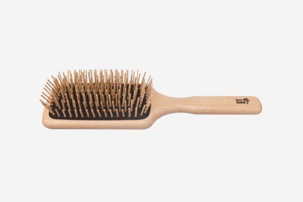 KOST KAMM Holzbürste, Paddle-Brush, Buche, rechteckig, 9-reihig, 25,5 cm