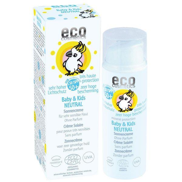 ECO BABY Sonnencreme LSF 50+ NEUTRAL - 50ml - für sehr sensible Haut -