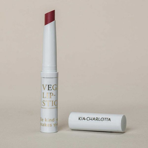 "Kia Charlotta Vegan Lipstick ""Game Changer"" Tiefes Kirschrot, 1,8g"