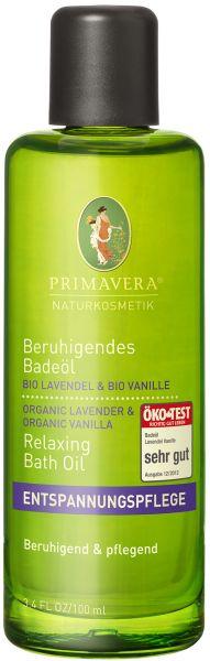 PRIMAVERA Beruihgendes Badeöl Lavendel Vanille, 100ml