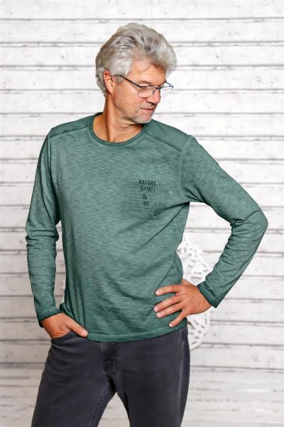 "The Spirit of OM Langarm Shirt 'Nature Spirit"" in Verschiedenen Farben, Gr. S-XL"