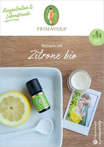 PRIMAVERA DIY Rezeptkarte Zitrone bio
