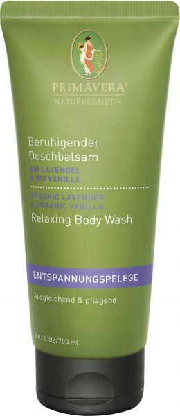 PRIMAVERA Beruihgender Duschbalsam Bio-Lavendel & Bio-Vanille, 200ml