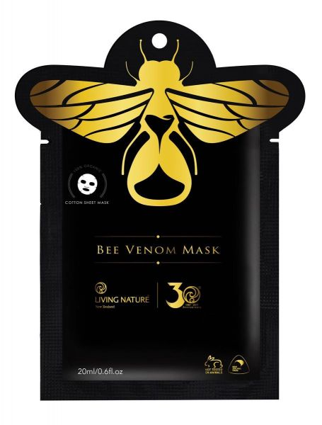 Living Nature Box mit 6 Einzelsachets Bee Venom Mask: Bienengiftmaske für die Kabine, je 20ml