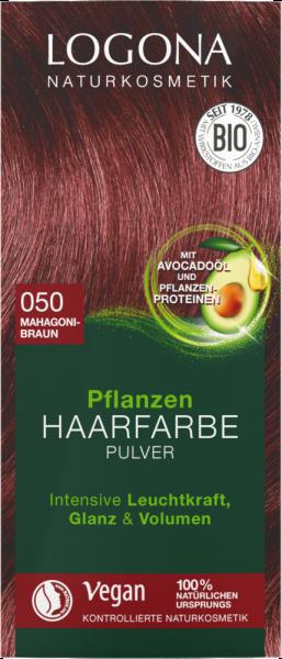 LOGONA Pflanzen-Haarfarbe Pulver 050 mahagonibraun, 100g