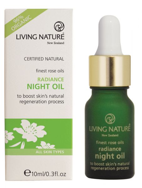 Living Nature RADIANCE NIGHT OIL: Antifaltenrosenöl, 10ml