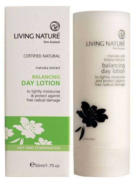 Living Nature BALANCING DAY LOTION Tagescreme für Misch-fettige Haut, 50ml