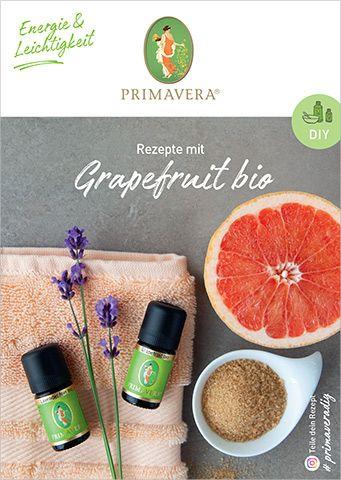 PRIMAVERA DIY Rezeptkarte Grapefruit bio
