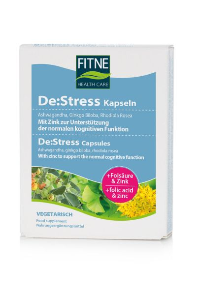 FITNE De-Stress Kapseln NEU, 60 Stück