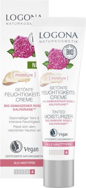 LOGONA getönte Feuchtigkeitscreme Bio-Damaszener Rose, 30ml