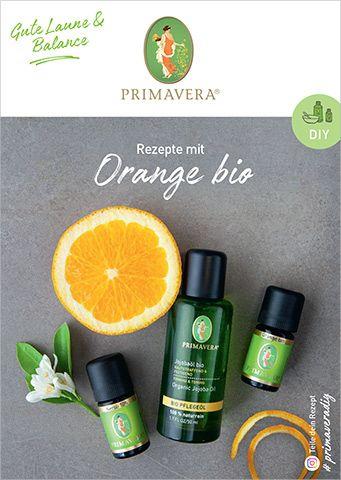 PRIMAVERA DIY Rezeptkarte Orange bio