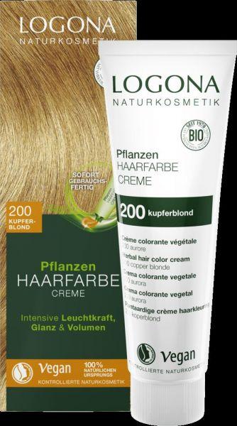 LOGONA Planzen-Haarfarbe Creme 200 kupferblond, 150ml