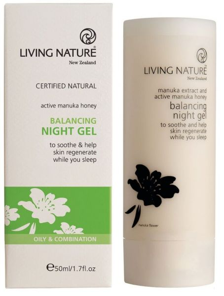 Living Nature BALANCING NIGHT GEL: Regulierendes Nachtpflegegel, 50ml