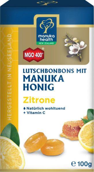 Manuka Health LutschBonbons mit Manukahonig MGO 400+, Zitronengeschmack, 100g