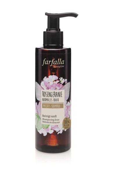 FARFALLA Rosengeranie, Mildes Shampoo, 200ml NEU!
