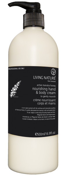 Kabinett Living Nature NOURISHING HAND & BODY CREAM, 500ml