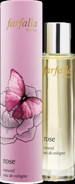 FARFALLA Rose, natural eau de cologne, 50ml NEU!