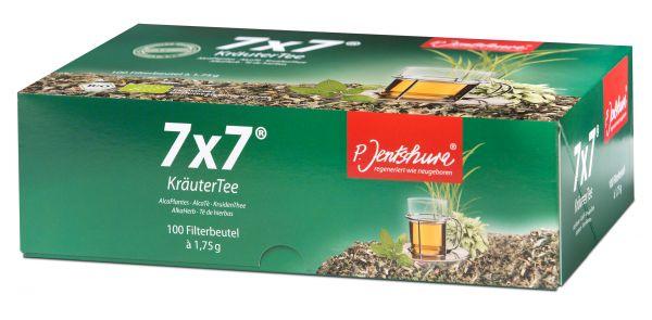 P. Jentschura 7x7 Kräutertee 100 Teebeutel à 1,75g