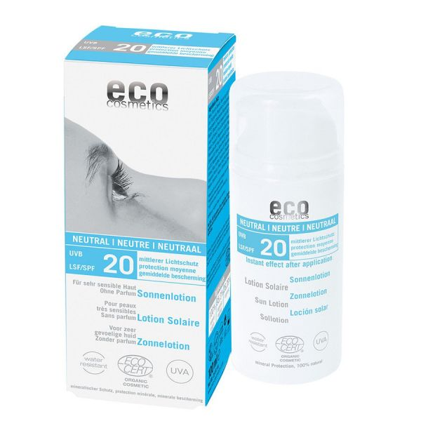 ECO Sonnenlotion LSF 20, -Neutral ohne Duft- 100ml