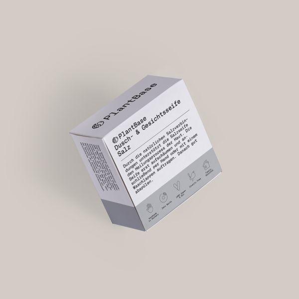 PlantBase Dusch- und Gesichtsseife Salz, 100g