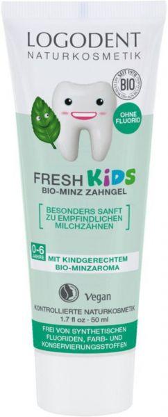 LOGONA FRESH Kids Bio Minze Zahngel, 50ml