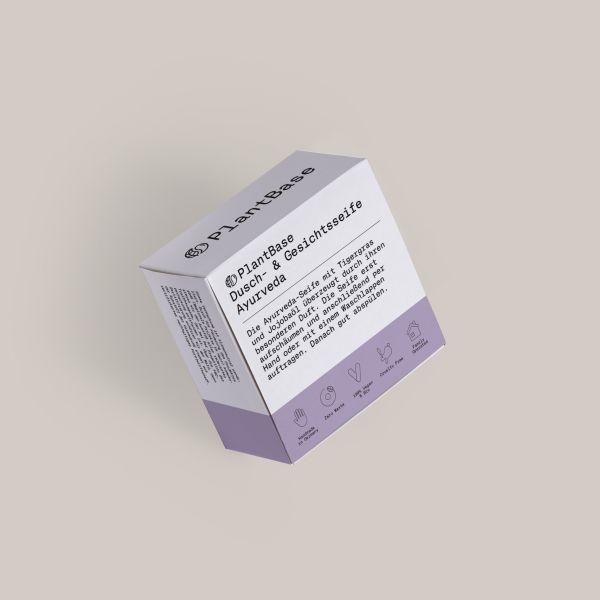 PlantBase Dusch- und Gesichtsseife Ayurveda, 100g