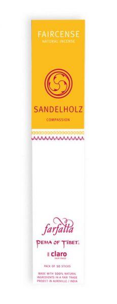FARFALLA Sandelholz / Compassion, Faircense Räucherstäbchen