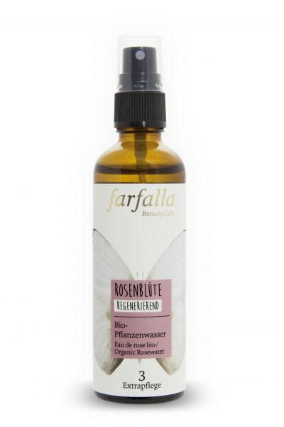 Farfalla, Rosenblüte Bio-Pflanzenwasser, 75ml