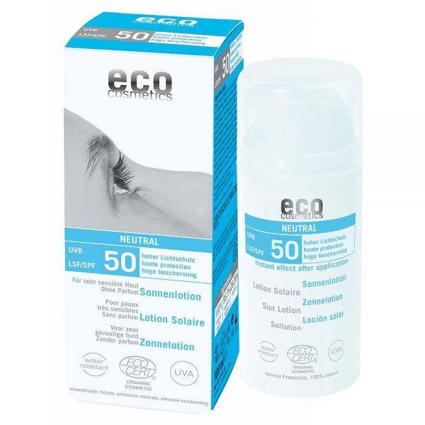ECO Sonnenlotion LSF 50, -Neutral ohne Duft- 100ml