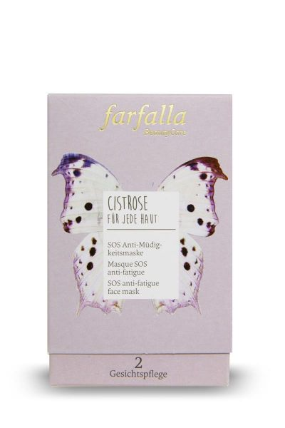Farfalla, SOS Anti Müdigkeitsmaske, Tray/Spender 10x7ml