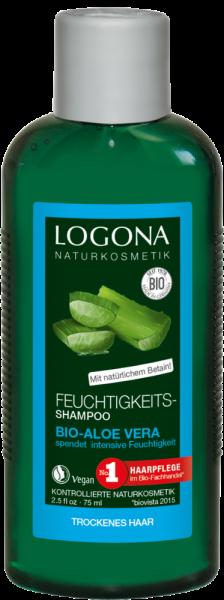 LOGONA Kl-Gr. Feuchtigkeits-Shampoo Bio-Aloe Vera 75 ml