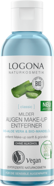 LOGONA CLASSIC milder Augen Make-up Entferner Bio-Aloe Vera, 125ml