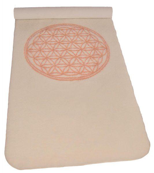 """Spirit of OM Yogamatte """"Blume des Lebens"""" 85x198cm aus 100% Schurwolle"""
