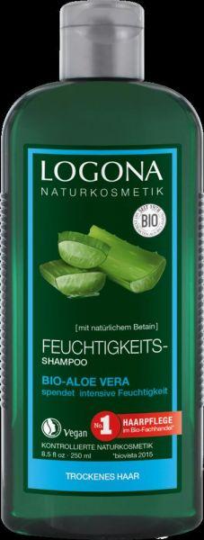 LOGONA Feuchtigkeits-Shampoo Bio-Aloe Vera, 250ml