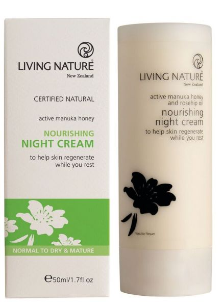 Living Nature NOURISHING NIGHTCREAM: Nährende Nachtcreme, 50ml