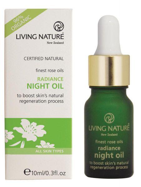 Living Nature RADIANCE NIGHT OIL: Antifaltenrosenöl, 10ml