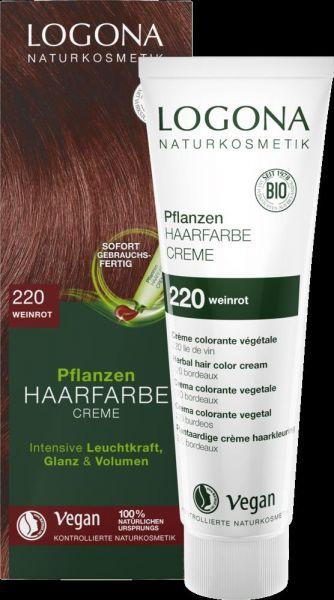 LOGONA Planzen-Haarfarbe Creme 220 weinrrot, 150ml