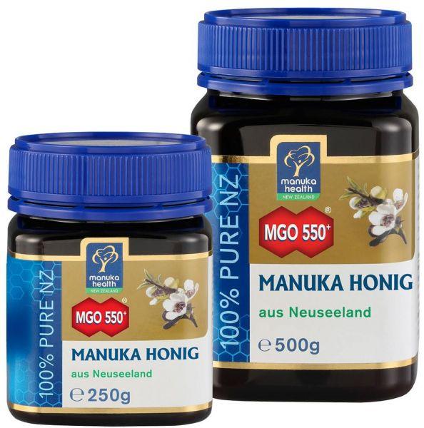 Manuka Health Manukahonig MGO 550+, in verschiedenen Größen