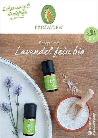 PRIMAVERA DIY Rezeptkarte Lavendel fein bio