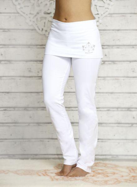 The Spirit of OM Yogahose mit breitem Rockbund Gr. XS - XL in verschiedenen Farben