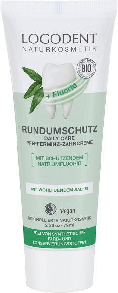 LOGONA extrafrischer Rundumschutz daily care Zahncreme mit Fluorid, 75ml