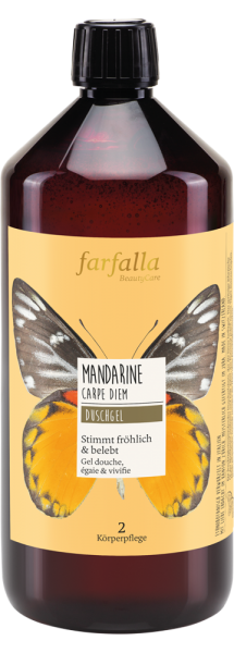 Farfalla Mandarine Carpe Diem Feuchtigkeitsspendendes Duschgel, 1000ml