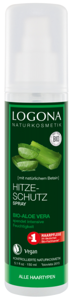LOGONA Hitzeschutz Spray Bio-Aloe Vera, 150ml