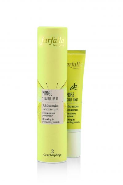 Farfalla Mimose Sensible Haut, Schützendes Detoxserum, 15ml