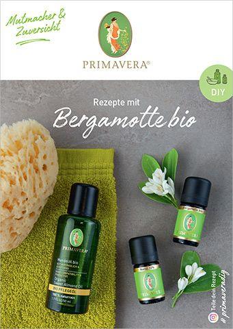 PRIMAVERA DIY Rezeptkarte Bergamotte bio