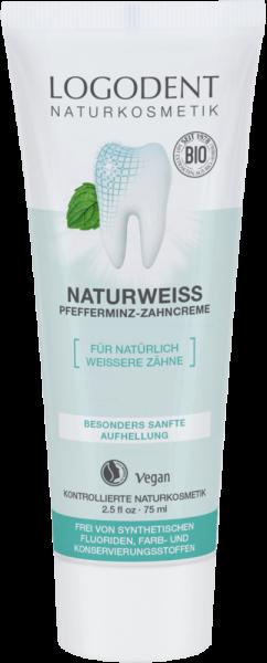 LOGONA naturweiß Pfefferminz Zahncreme, 75 ml