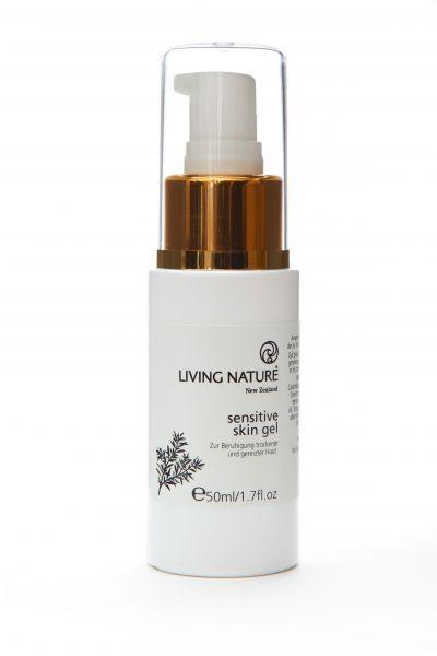 Kabinett Living Nature Sensitiv Skin Gel, Nachtkerzen-Gel für Kabine mit 10% Rabatt, 50ml