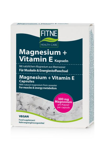 FITNE Magnesium & Vitamin E, 60 Kapseln